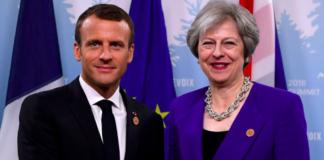 Emmanuel Macron Theresa May Brexit défilé 14 juillet