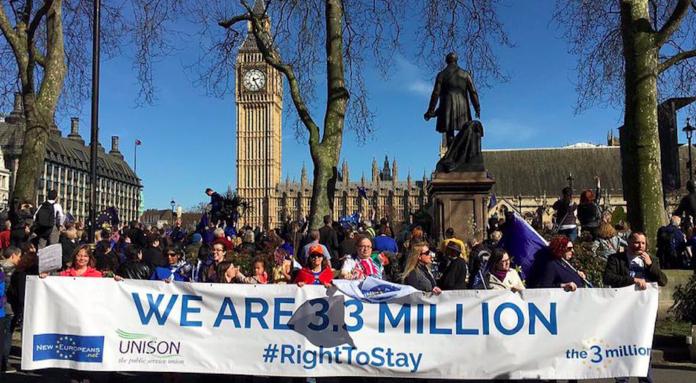 The 3 Million chaine humaine brexit protection droits européens