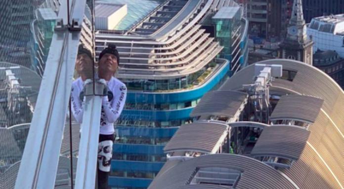 alain robert spiderman escalade Heron Tower Londres