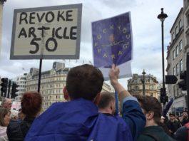 participants pro-europeens marche brexit londres