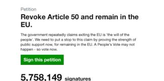 Petition Brexit debattue