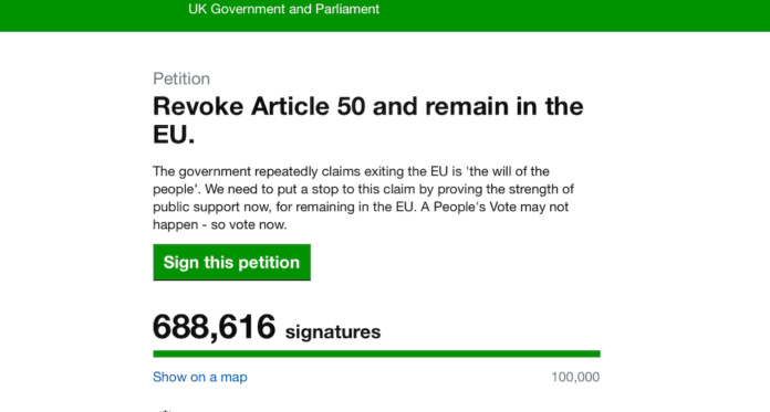 petition annulation brexit
