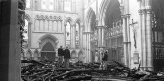 Cathedrale York incendies une
