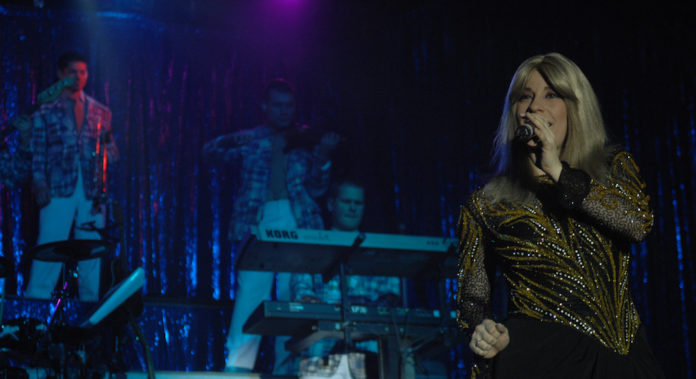 Barbra Streisand et Stevie Wonder en concert a Londres lors du British Summer Festival