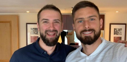 olivier giroud french connect gala charite londres