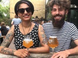 Sandy Sohal et Florian Fernandes hoppin rabbit promotion bieres francaises artisanales royaume-uni