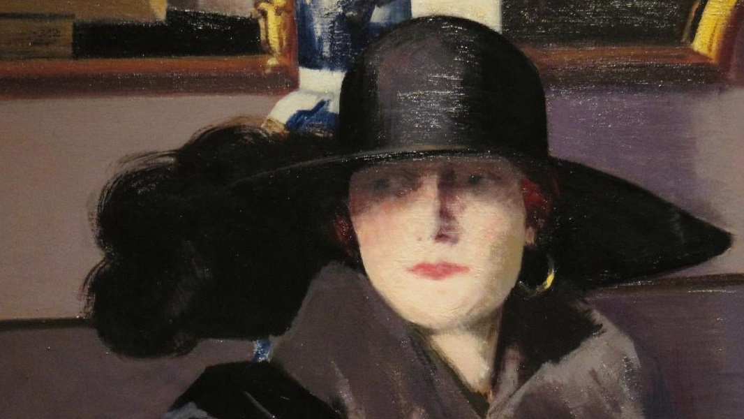 A Lady in black, par le peintre écossais Francis Campbell Boileau Cadell
