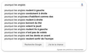 Questions Anglais