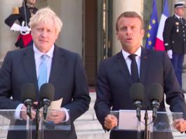 boris johnson emmanuel macron rencontre paris brexit