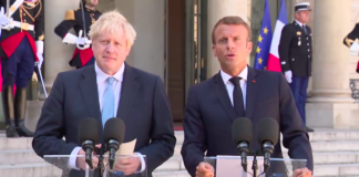 boris johnson emmanuel macron rencontre paris brexit