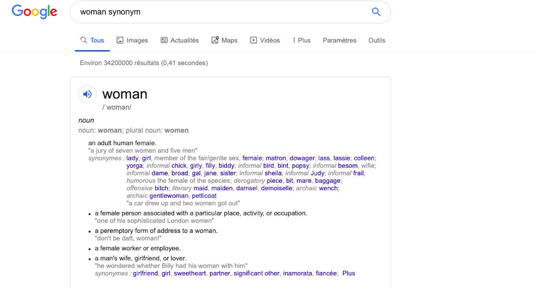 petition definition femme sexiste internet dictionnaire Oxford