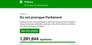 petition ligne suspension parlement britannique brexit