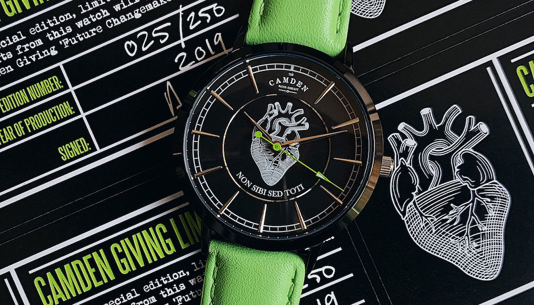 Camden Giving Charity edition limitee montre