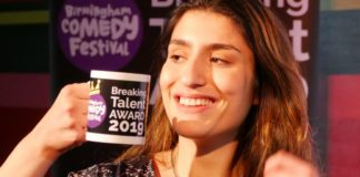 Celya AB a remporté le Birmingham Comedy Festival Breaking Talent Award