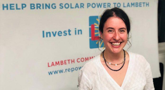 Eva Goudouneix au lancement du projet Lambeth Community Solar