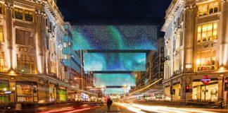 Illuminations Oxford Street londres noel