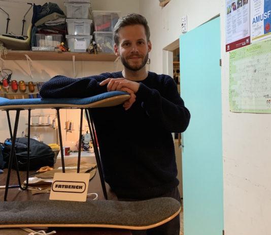Fatbench est une marque de tabourets faits à partir d'un skateboard, lancée par un Français à Shoreditch.