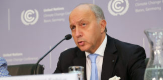 laurent fabius climat londres