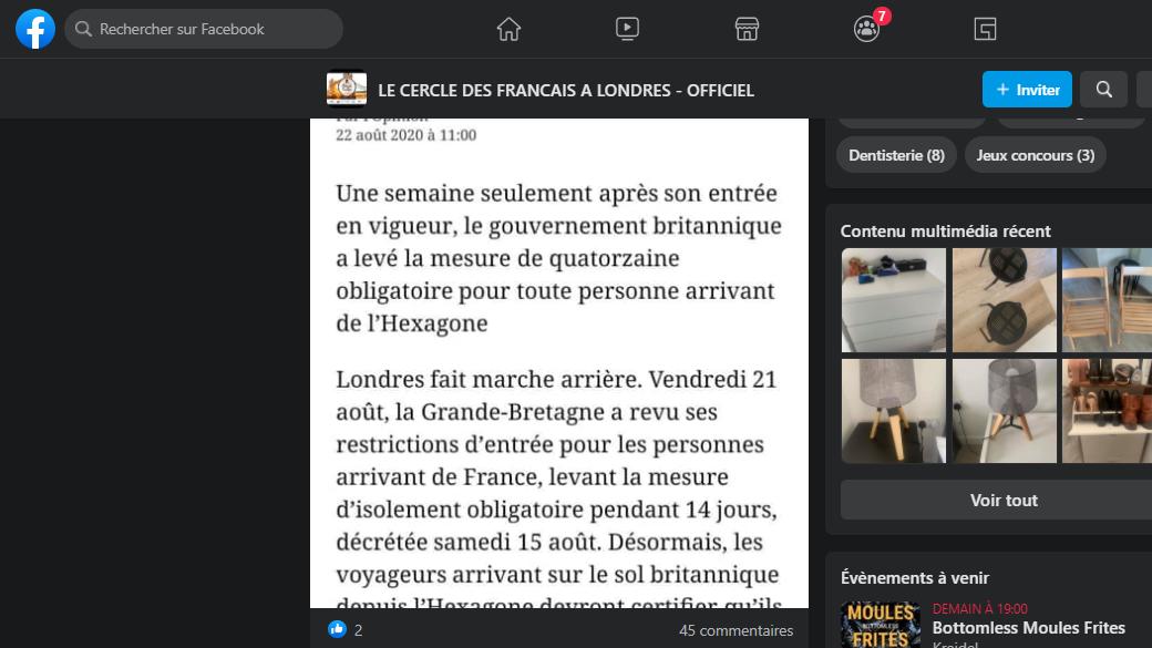 screenshot Cercle des Français