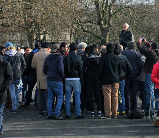 speakers corner hyde park londres